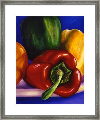 Peppers On Peppers Framed Print