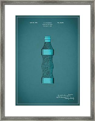 Pepsi Cola Bottle Patent 1930 Framed Print by Mark Rogan