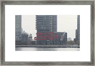 Pepsi Cola Landmark Sign Framed Print by John Telfer