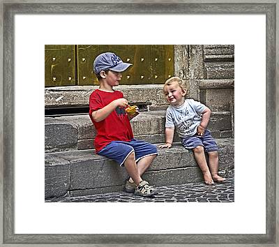 Per Favore Framed Print