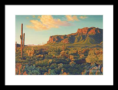 Desert Sunset Framed Prints