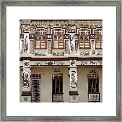 Peranakan Architecture Framed Print