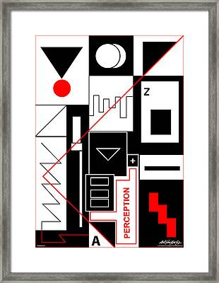 Perception II - Text Framed Print by Asbjorn Lonvig