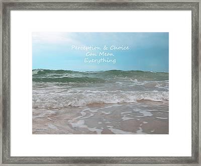 Perception Framed Print by Sabrina Wheeler