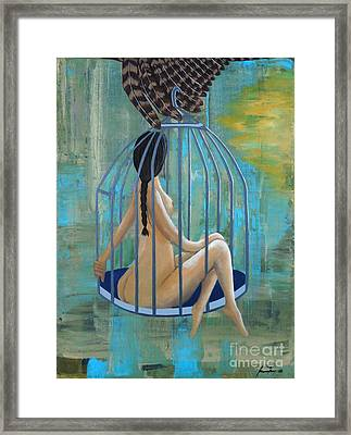 Perceptions Of The Lady In The Birdcage Framed Print