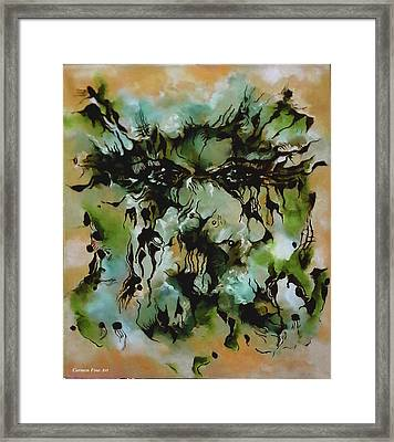 Perceptive Expression Framed Print