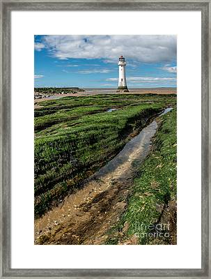 Perch Rock Lighthouse Framed Print by Adrian Evans