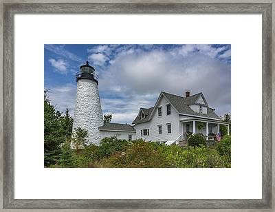 Perched On The Peninsula  Framed Print