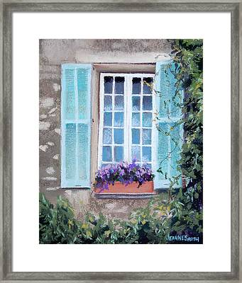 Perched Purples Framed Print