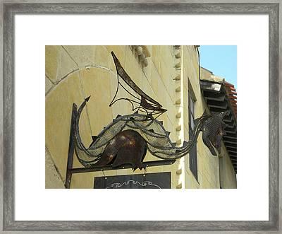 Perching Dragon Framed Print