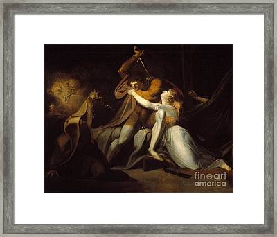Percival Delivering Belisane From The Enchantment  Framed Print by MotionAge Designs