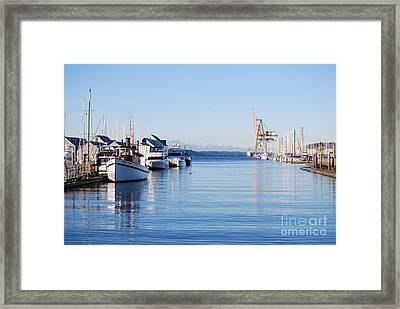 Framed Print featuring the photograph Percival Landing by Larry Keahey