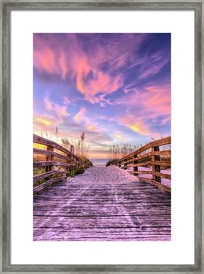 Perdido Key Pink Framed Print by JC Findley