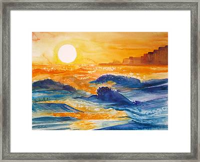 Perdido Key Sunset Framed Print by L Lauter
