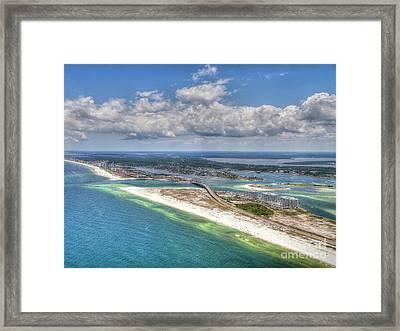 Perdido Pass Aerial 3029 Framed Print
