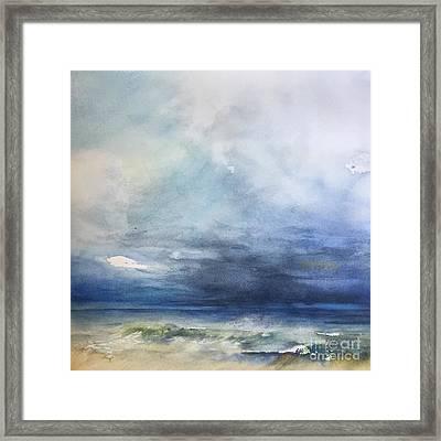 Perdido Storm Rising Framed Print by Karen Lindeman