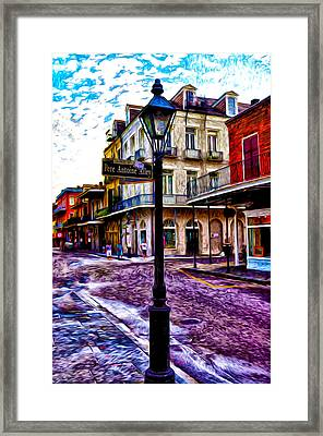 Pere Antoine Alley - New Orleans Framed Print by Bill Cannon