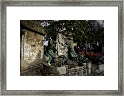 Pere Lachaise Tomb Framed Print