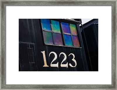Pere Marquette Locomotive 1223 Framed Print by Adam Romanowicz