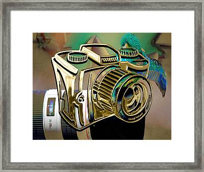 Perfect Capture Camera Collection Framed Print by Marvin Blaine