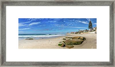 Framed Print featuring the photograph Perfect Day At Horseshoe Beach by Peter Tellone