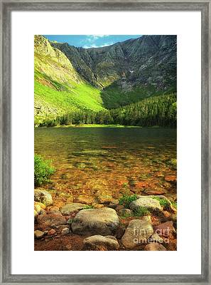 Perfect Day To Peak Framed Print by Elizabeth Dow