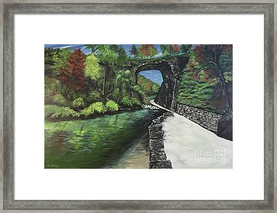 Perfect Fall Day At Natural Bridge Virginia Framed Print by Katie Adkins