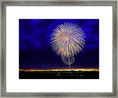 Perfect Fire Works Framed Print
