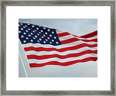Perfect Flag Framed Print