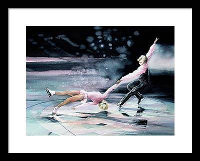 Olympic Figure Skating Paintings Framed Prints