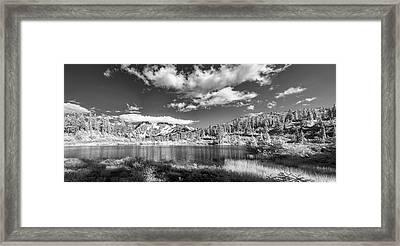 Perfect Lake At Mount Baker Framed Print by Jon Glaser