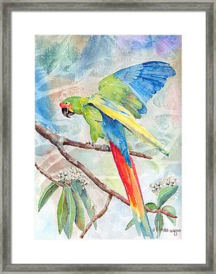 Perfect Landing Framed Print by Arline Wagner