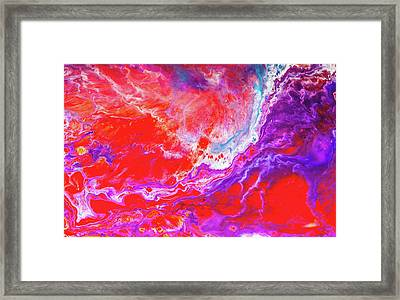 Perfect Love Storm - Colorful Abstract Painting Framed Print by Modern Art Prints