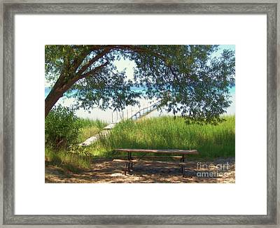 Perfect Picnic Spot Framed Print by Desiree Paquette