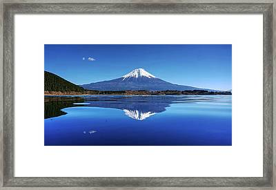 Framed Print featuring the photograph Perfect Shape, Perfect Blue by Peter Thoeny