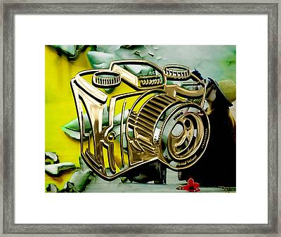 Perfect Shot Camera Collection Framed Print by Marvin Blaine