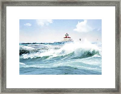 Perfect Storm Framed Print by Celestial  Blue