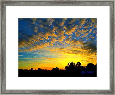 Framed Print featuring the digital art Perfect Sunset by Mark Blauhoefer