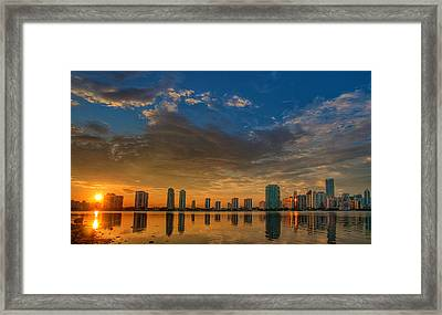 Perfect Sunset Framed Print by William Wetmore