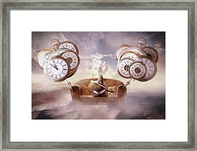 Framed Print featuring the digital art Perfect Timing  by Nathan Wright