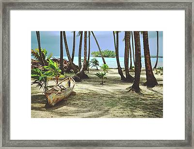 Perfect Tropical Paradise Islands With Turquoise Water And White Sand Framed Print