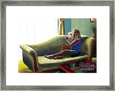 Perfect Waiting - Esperar Perfecto Framed Print