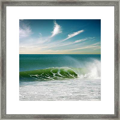 Perfect Wave Framed Print by Carlos Caetano
