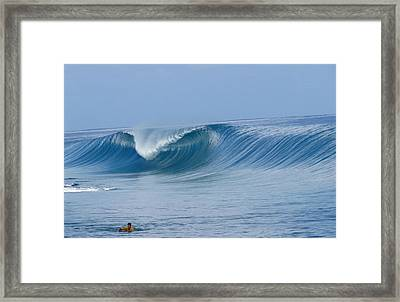 Perfect Wave Teahupoo Framed Print