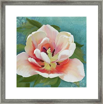 Framed Print featuring the painting Perfection - Single Tulip Blossom by Audrey Jeanne Roberts