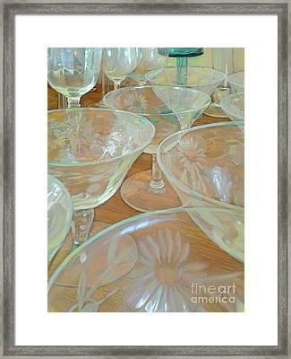 Perfectly Empty Framed Print by CR Leyland