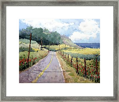 Perfectly Peaceful Pacific Framed Print by Joyce Hicks