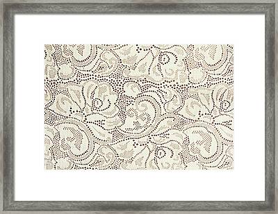 Perforated Ornament Framed Print by Dejan Lazarevic