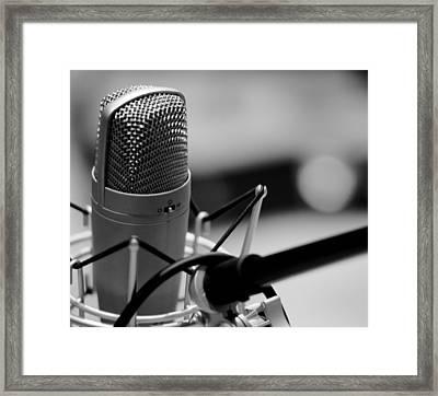 Performance Microphone Framed Print