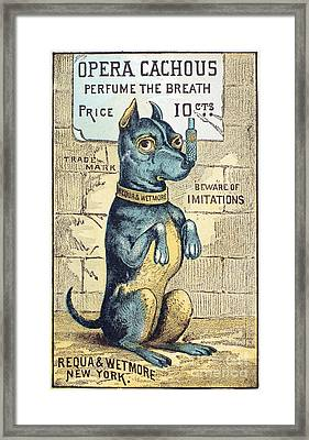 Perfume Advertisement Framed Print by Granger